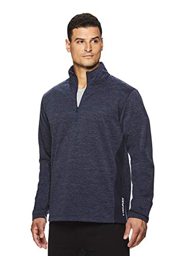 HEAD Mens 1/4 Zip Up Activewear Pullover Jacket - Long Sleeve Running & Workout Sweater