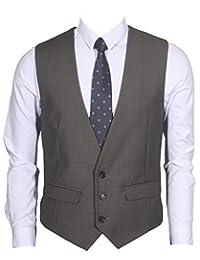 Ruth&Boaz Men's 2Pockets 3Button Business Suit Vest