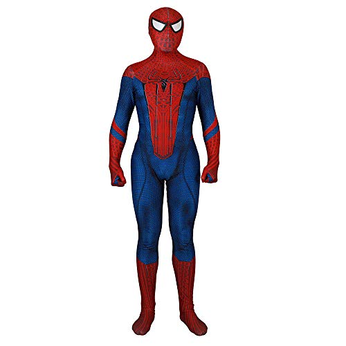 (Unisex Lycra Spandex Zentai HalloweenThe Amazing Cosplay Costumes Suit Adult/Kids 3D Style (Kids-M Red)