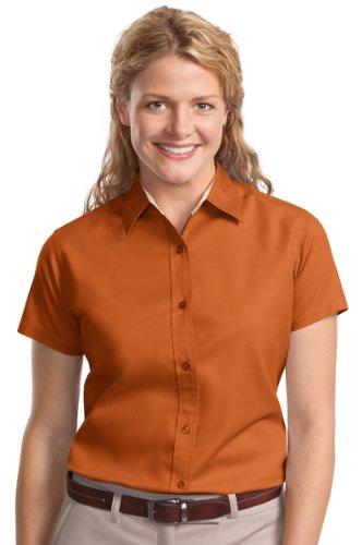 La Camisa Autoridad Texas Mujer Orange light Portuaria Stone Arrugas De qPPIEa