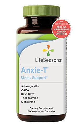 Life Seasons - Anxie-T - Anti Anxiety Support Supplements That Combat Stress - Calm and Stress Supplement - Feel More Relaxed - Contains Kava Kava, GABA, L-Theanine - Regular Size (60 Capsules) -