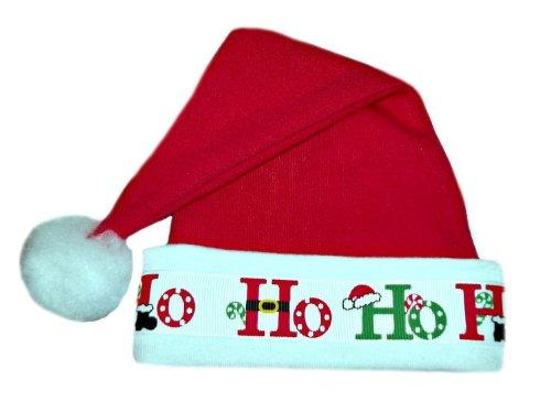 Jacqui's Unisex Baby Ho Ho Ho Santa Christmas Hat, 0-3 Months (Ho Outfits)