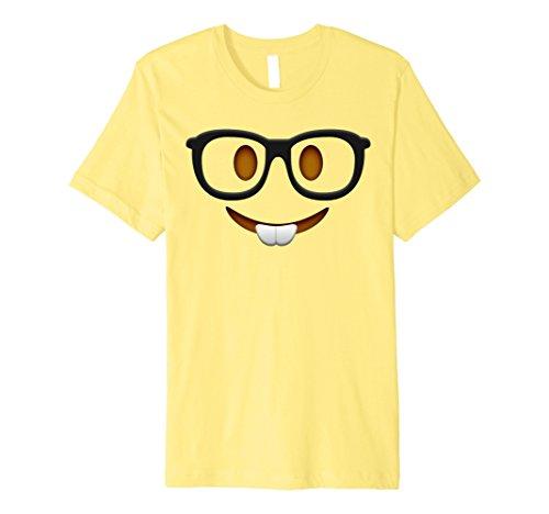 Mens Nerd Halloween Group Emoji Costume Shirt Medium Lemon