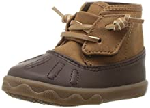 Sperry Boys' Icestorm Crib Ankle Boot, Tan/Brown, 2 Medium US Infant