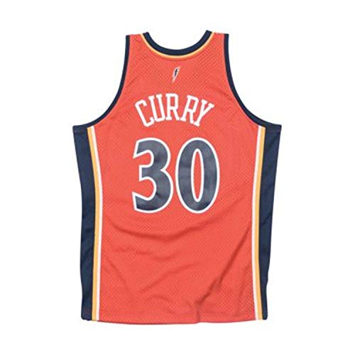 (Mitchell & Ness Stephen Curry Golden State Warriors NBA Throwback Swingman Jersey-Alternate (Large))