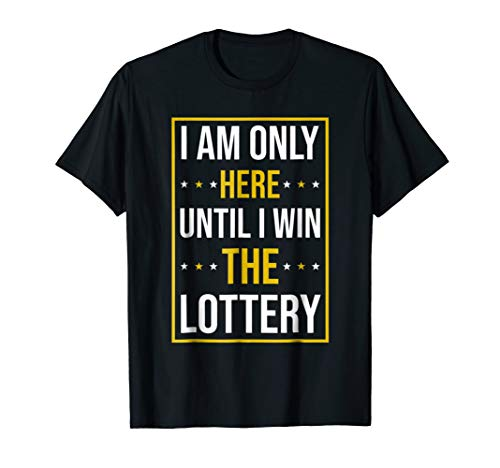 Funny Lottery T Shirt | Jackpot Lottery Numbers Millions Tee (Lottery Best Numbers To Win)