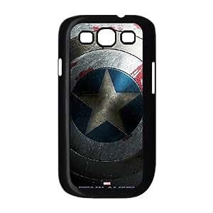 Shield Captain America The Winter Soldier funda Samsung Galaxy S3 9300 caja funda del teléfono celular del teléfono celular negro cubierta de la caja funda EEECBCAAL07387