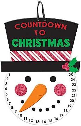 [해외]HYOUNINGF Christmas Countdown Outdoor Hanging Snowman Advent Calendar for The Holidays Wooden Wall & Door Decoration Days Until Christmas Countdown (1) / HYOUNINGF Christmas Countdown Outdoor Hanging Snowman Advent Calendar for The...