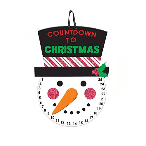 HYOUNINGF Christmas Countdown Outdoor Hanging Snowman ...