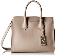 This beautiful VALENTINO bag convinces with its simple style and beautiful handles. You can also carry the handbag crossover with the detachable shoulder straps. In addition, there is a cosmetic bag inside, so you can store your beauty essent...