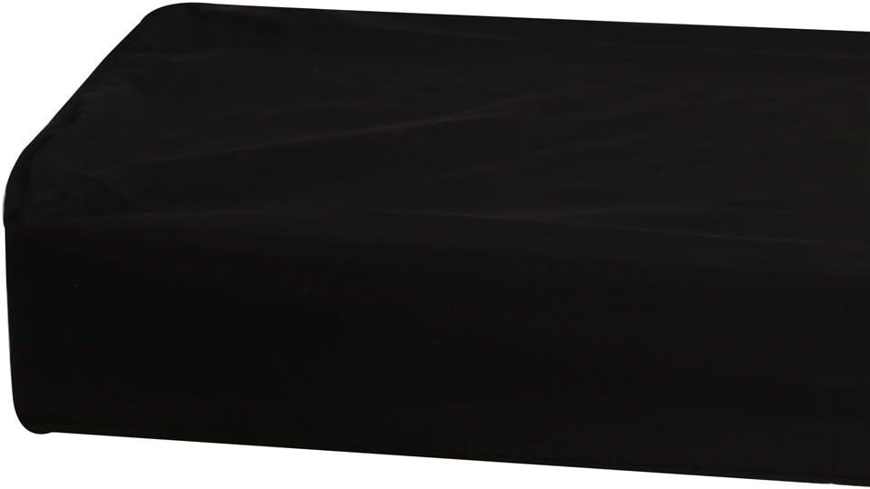Sac Housse Antipoussi/ère Couvercle pour 88 Cl/é Clavier de Piano /électronique Noir 134x29x12cm