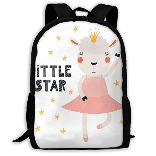 Adult Travelc Laptop Backpack,Little Star In A Tutu Pointe Shoes Cute Eyelashes Like A Queen,College School Computer Bookbag (Cosmos Eyelash)