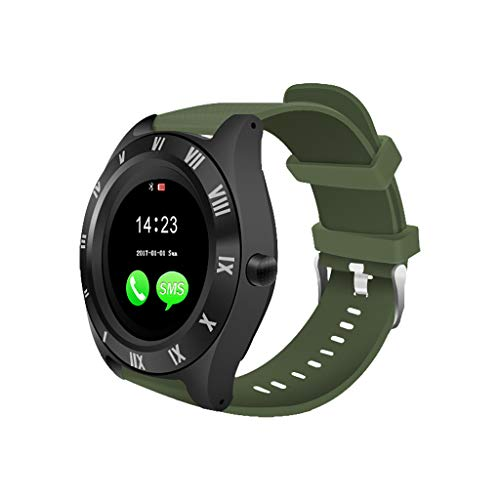 Orcbee  _M11 BT3.0 Smart Watch Support SIM and TFcard Camera for Android APP Call Phone (Navy) ()