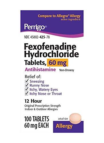 perrigo - Fexofenadine Generic Allegra 60 Mg - 100ct.