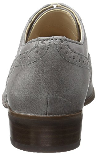 Clarks Damen Hamble Oak Oxford Grau (Grey Leather)