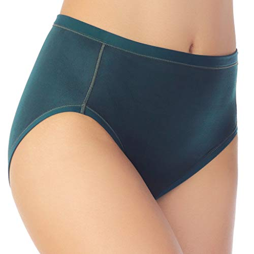 - Vanity Fair Women's Body Caress Hi Cut Panty 13137, Evergreen, 6
