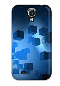 New AOzbNcK2621zDaiQ Cubes Abstract Skin Case Cover Shatterproof Case For Galaxy S4