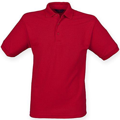 (Henbury Mens Short Sleeved 65/35 Pique Polo Shirt (S) (Vintage Red))