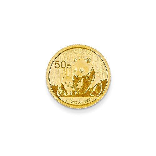 (Sonia Jewels 24k Yellow Gold 50 Yuan Panda Coin (18mm x 18mm))