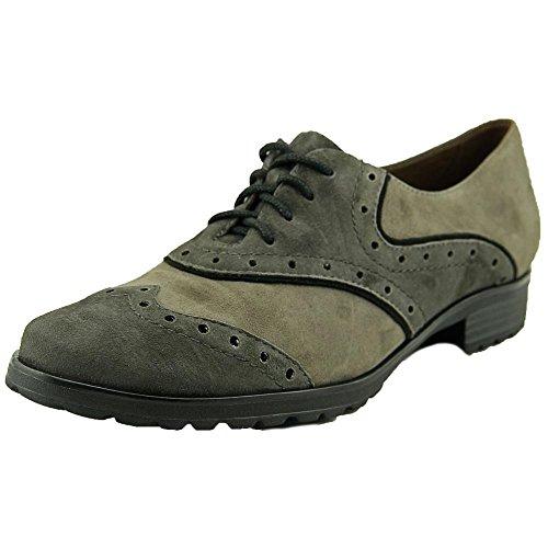 Earthies Womens Berlin Oxfords Shoes, Dark Grey, Size - 8