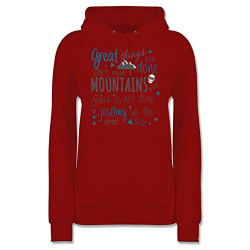 Shirtracer Après Ski - Great Things Happen Mountain - Damen Hoodie Rot Mfbs0