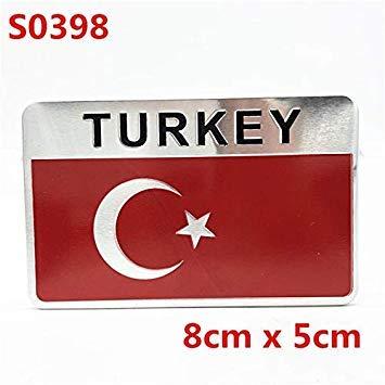 Sellify TURQUÃA la bandera nacional de la insignia del emblema de la etiqueta engomada del coche