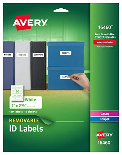 Removable Id Labels - Avery Removable Multipurpose Labels, 1 x 2.625