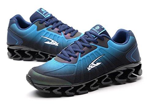 Hooh Trainingsschoenen Mesh Schokabsorptie Ademend Antislip Fitness Loopschoenen Heren Blauw