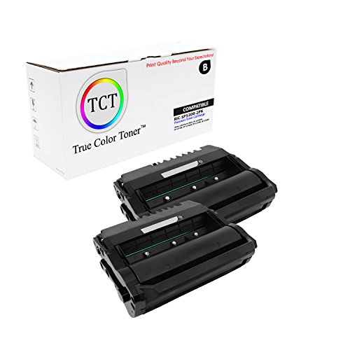 TCT Premium Compatible Toner Cartridge Replacement for Ricoh 406683 Black Works with Ricoh Aficio SP 5200DN 5210SF 5210DN 5210SR 5200S Printers (25,000 Pages) - 2 Pack