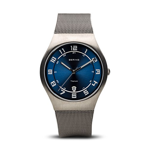 BERING Time 11937-078 Mens Classic Collection Watch with Mesh Band and scratch resistant sapphire crystal. Designed in - Discount Watchshop