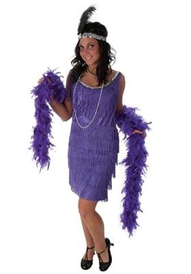 Fun Costumes womens Plus Size Purple Fringe Flapper Dress
