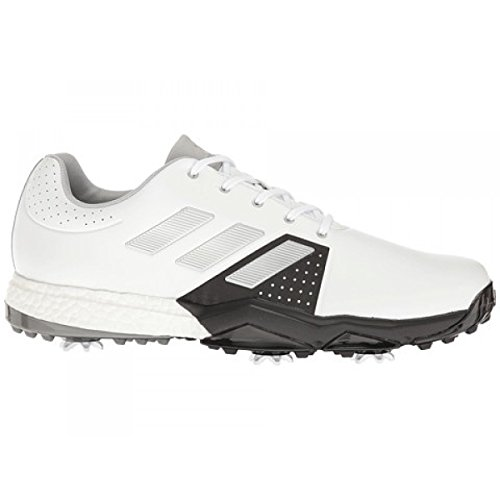 Adidas adiPower Boost 20Scarpe di Allarga Larga, Uomo, Bianco/Nero/Argento, 40