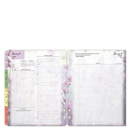 Monarch Blooms Daily Ring-bound Planner - Jan 2017 - Dec 2017