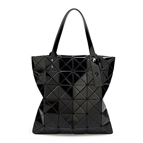 Sparkle Black Laser New Bag Pahajim Fashion donne per Japan Shoulder le Geometric Canvas q8FFa67wn