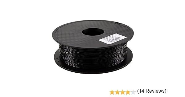 HICTOP 0.8KG 1.75mm Flexible negro TPU (caucho) Filamento para la ...