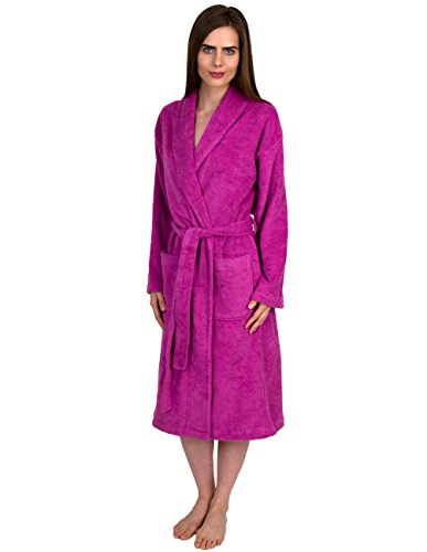 - TowelSelections Women's Robe, Turkish Cotton Terry Shawl Bathrobe Medium/Large Spring Crocus