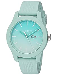Lacoste Women's 'L.12.12' Quartz Resin and Silicone Casual Watch, Color:Green (Model: 2000990)