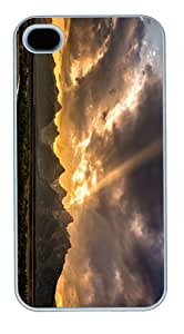 most protective cases grand tetons sunset PC White Case for iphone 4/4S