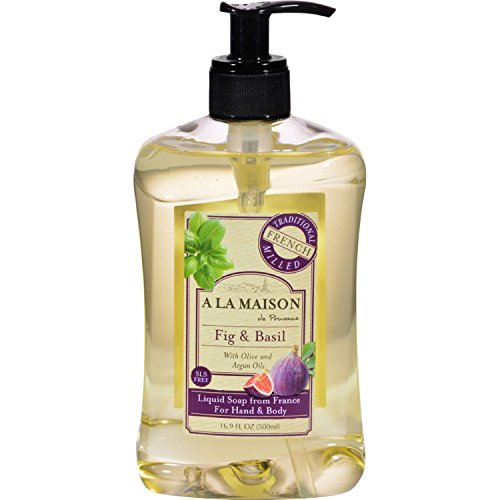 A La Maison De Provence French Liquid Soap, Fig & Basil, 16.9 Fl Oz TEJ
