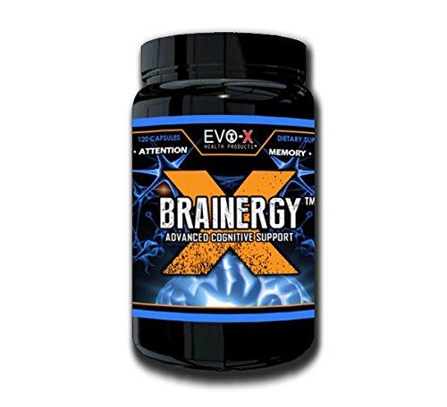 Brainergy-X (120 Capsules): énergie, Focus, cognitive, Supplément Nootropic (caféine, L-théanine, Rhodiola rosea, Bacopa Monnieri, Ginkgo Biloba, Panax Ginseng, L-Tyrosine, Alpha-GPC, BioPerine, taurine)