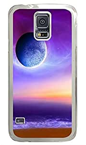 Samsung Galaxy S5 Purple Moon PC Custom Samsung Galaxy S5 Case Cover Transparent by supermalls