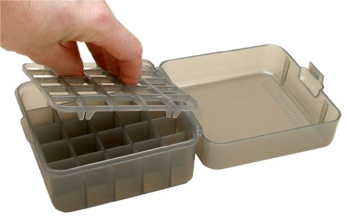 MTM Multi Gauge 25 Round Shotshell Box (Clear Smoke) ()
