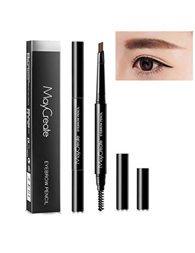 Chiak Waterproof Long Lasting Double Head Automatic Rotation Eyebrow Pencil Liner & Shadow Combinations