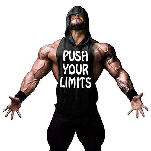Manches Maillot À T Homme shirt Musculation Top Gym Tank Noir Stringer vêtements Sans Capuche Sous Befox Fitness Débardeur npqYxSwIES