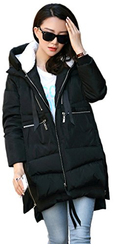 Orolay Women's Thickened Down Jacket BLACK XL (Sherpa House)