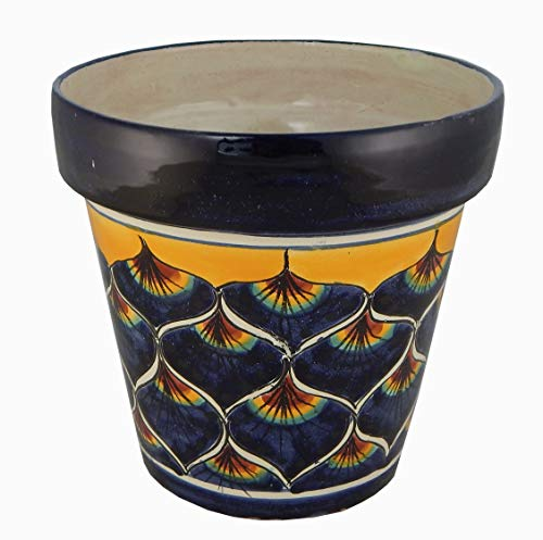 Ceramic Planter Talavera (Mexican Talavera Planter Ceramic Flower Pot Folk Art Pottery Garden Handmade # 35)