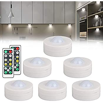 Linkstyle 6 Pack Wireless Led Puck Lights Kitchen Under