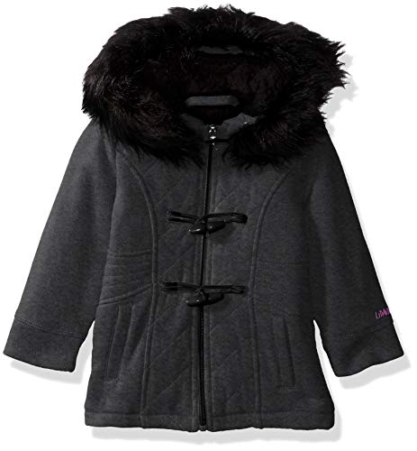Limited Too Baby Girls Quilted Toggle Fleece Jacket, Charcoal Heather, 24M