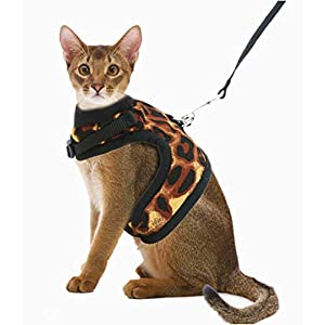BoomBone Escape Proof Cat Harness and Leash - Soft Mesh Kitten Vest Harness for Walking 44