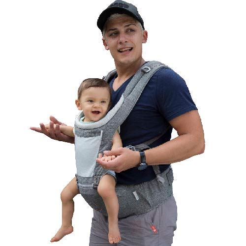 DaDa Hip Seat Baby Carrier, Airflow 360 Ergonomic Baby Carrier with hip seat for Infants and Toddler (New Generation backpack carrier ) for all seasons, perfect for nursing, hiking and ()